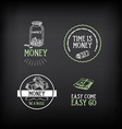 Money badge and logo design Quote text vector image vector image