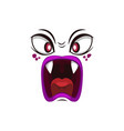 monster face isolated icon cartoon emoji vector image vector image