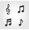 Music notes icons set flat design vector image