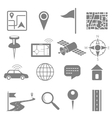 Navigation icon set for GPS application vector image