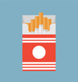 open cigarettes pack box flat style vector image vector image