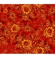 Orange floral seamless pattern on red background vector image vector image
