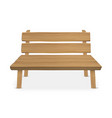 real wood chair on a white background vector image