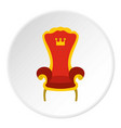 red royal throne icon circle vector image vector image