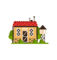 rural cottage and water tower countryside vector image vector image