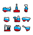 Russian icons silhouette Traditional Russian folk vector image vector image