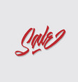 sale hand lettering typography vector image vector image