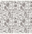 seamless pattern in the style of hand-drawn vector image vector image