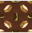 seamless pattern two types sandwiches vector image vector image