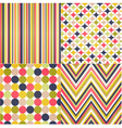 Seamless stripes zig zag and polka dots vector image vector image