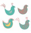 set of decorative birds vector image