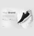 sneakers on abstract background realistic style