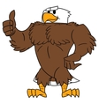 Strong eagle thumb up gesture vector image vector image