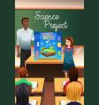 student having science presentation vector image vector image