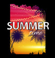 summer time beach poster tropical natural vector image vector image
