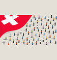 swiss independence anniversary celebration vector image