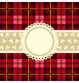 Tartan design vintage frame vector image vector image