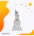 travel liberty statue poster template vector image