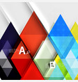 triangle geometric infographic banner vector image vector image