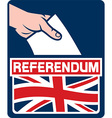 United Kingdom Referendum Poster vector image vector image