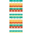 Vibrant ikat stripes vertical seamless pattern vector image
