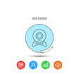 web cam icon video camera sign vector image vector image