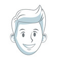 young guy smiling character people vector image vector image