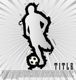 soccer silhouette break through white background vector image