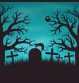 halloween night background in wood vector image