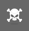 Jolly Roger Skull and bones pirate flag vector image