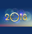 2018 happy new year background texture vector image vector image