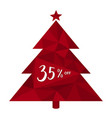 35 off thirty five percent christmas tree vector image vector image