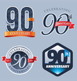 90 Years Anniversary Logo vector image vector image