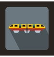 A colorful monorail train icon flat style vector image vector image