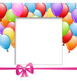 a frame with balloons and a ribbon vector image vector image