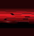 abstract red metallic cyber circuit with black vector image