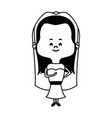 adorable woman bride lovely marriage character vector image vector image