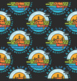 adventure seamless pattern with camp labels badges vector image vector image