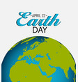 april 22 earth day background vector image