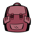 backpack school icon cartoon vector image