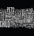 best pet picks for kids text background word vector image vector image