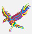 Bird abstract colorfully vector image vector image