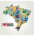 Brazil soccer summer world game Flat design vector image vector image