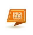 bubble speech orange vector image