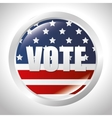 cartoon elections vote flag usa design vector image vector image