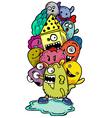 cartoon hand-drawn doodle vector image vector image