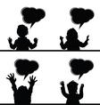 children with speech bubble vector image vector image