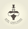 circus poster - strongman with arms crossed on vector image vector image