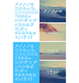 Cleanse Icons Set on blurred background vector image