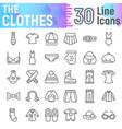 clothes line icon set cloth symbols vector image vector image